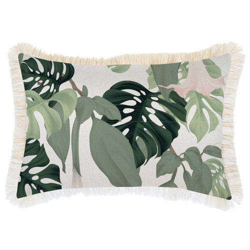 Escape to Paradise Hanoi Coastal Fringed Rectangular Cushion