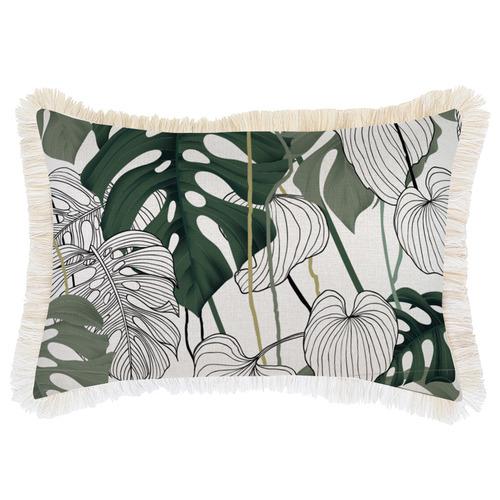Escape to Paradise Kona Coastal Fringed Rectangular Cushion
