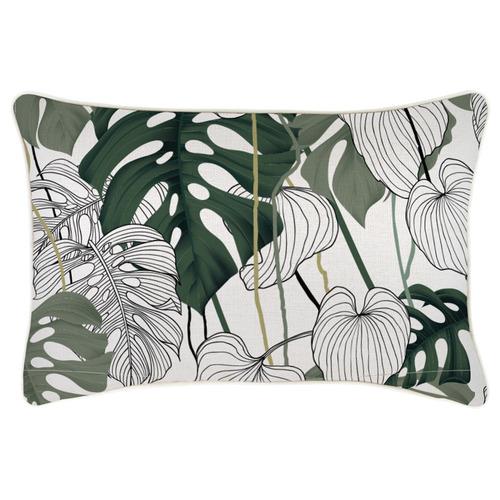 Escape to Paradise Kona Piped Rectangular Outdoor Cushion