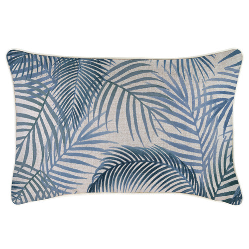 Escape to Paradise Blue Seminyak Piped Rectangular Outdoor Cushion
