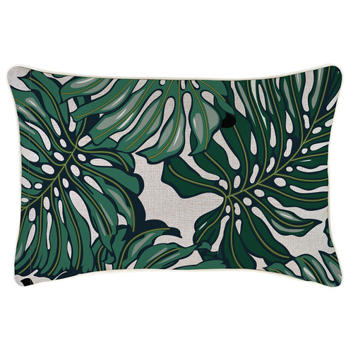 Escape to Paradise South Pacific Piped Outdoor Cushion