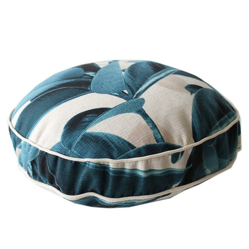 Escape to Paradise Teal Lux Piped Outdoor Cushion
