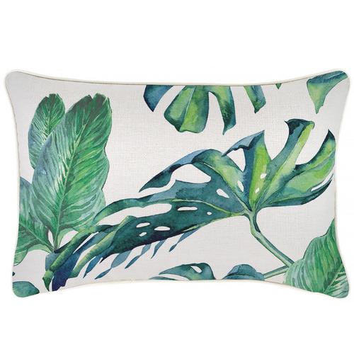 Green Kauai Piped Outdoor Cushion