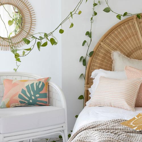 Escape to Paradise Piped Edge Horizon Rectangular Outdoor Cushion