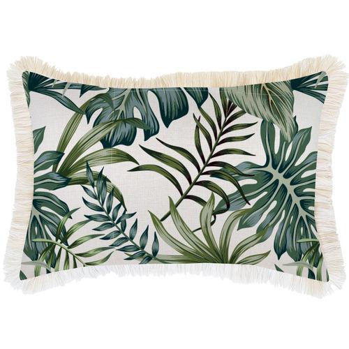 Escape to Paradise Coastal Fringe Boracay Rectangular Outdoor Cushion