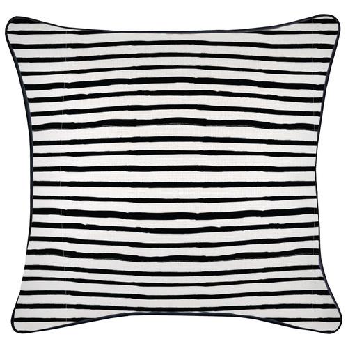 Striped Pipe Edge Square Cushion