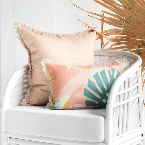 Escape to Paradise Coastal Fringe Horizon Rectangular Outdoor Cushion