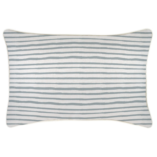 Escape to Paradise Piped Edge Stripe Rectangular Outdoor Cushion
