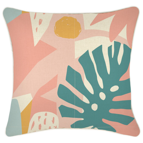 Escape to Paradise Piped Edge Horizon Square Outdoor Cushion