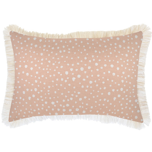 Escape to Paradise White Coastal Fringe Lunar Rectangular Outdoor Cushion