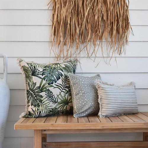 Escape to Paradise Coastal Fringe Boracay Square Outdoor Cushion