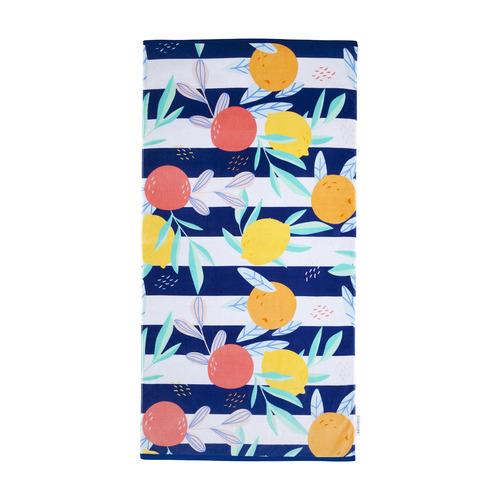 Fruity Luxe Cotton Beach Towel