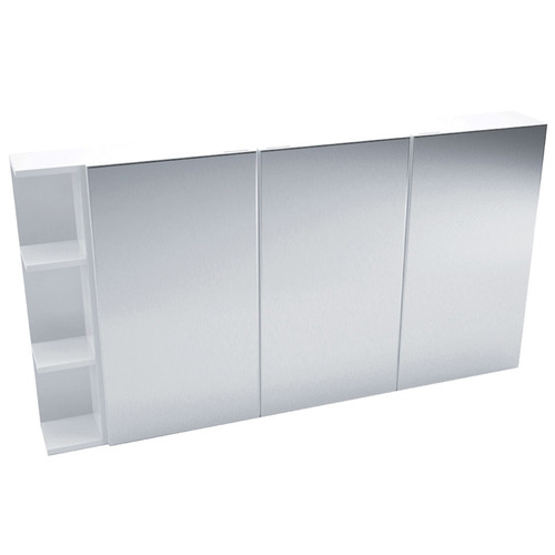 Kander 135cm Pencil Mirror Cabinet Set with 3 Shelves