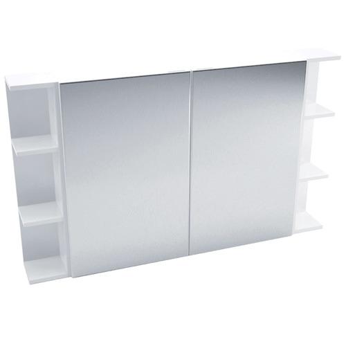120cm Halbard 2 Panel Shaving Cabinet with 6 Shelves