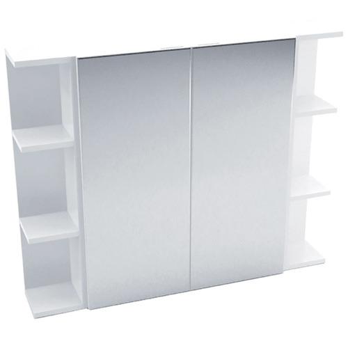 90cm Halbard 2 Panel Shaving Cabinet with 6 Shelves