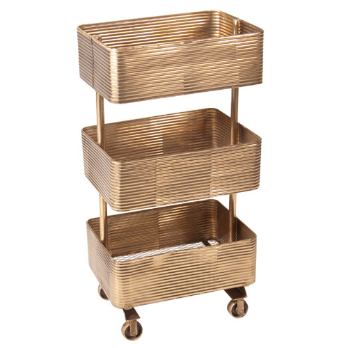 SLH House Luxe Brass Trolley