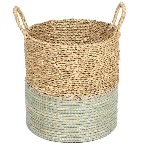 Natural & Blue Vishal Seagrass Basket