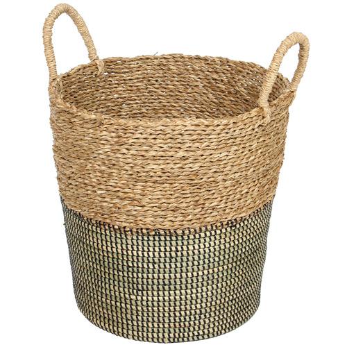 SLH House Natural & Black Vishal Jute Basket