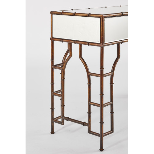 CAFE Lighting Antique Gold Tansu Console Table
