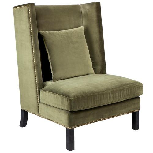 Lexington Home Wing Back Celisa Velvet Armchair