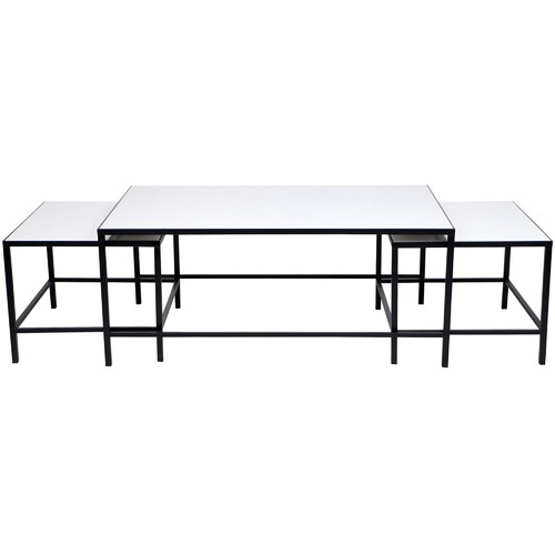Lexington Home 3 Piece White Cocktail Coffee Table Set