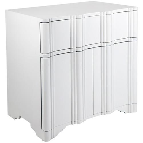 Lexington Home White Scalloped Amaris Bedside Table
