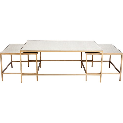 Lexington Home 3 Piece Marilyn Glam Coffee Table Set