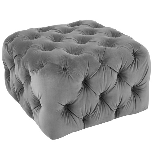 Lexington Home Leah Pinewood Upholstered Pouffe