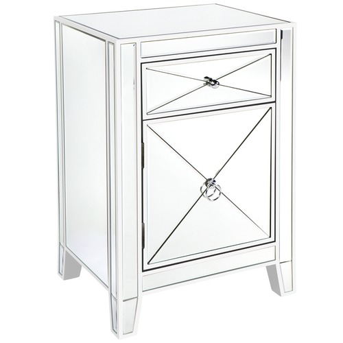 Lexington Home Plano Mirrored Bedside Table