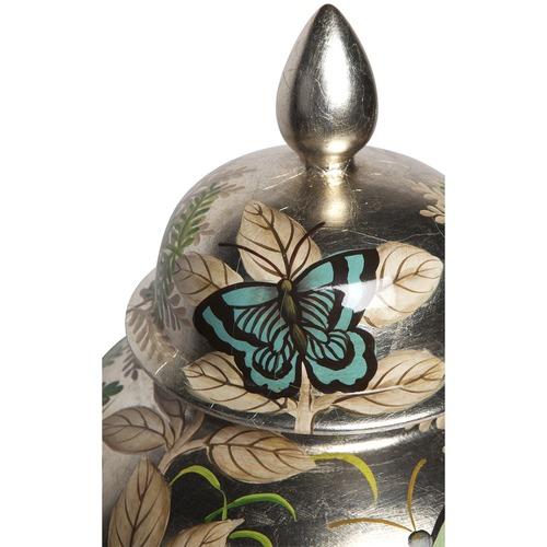 Lexington Home Large Butterfly Porcelain Temple Jar