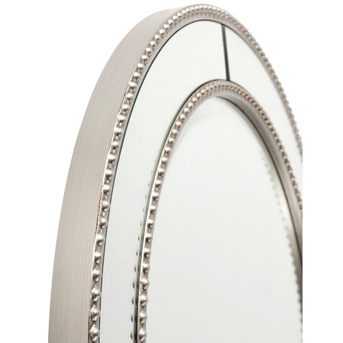 Lexington Home Round Antique Silver Zeta Wall Mirror