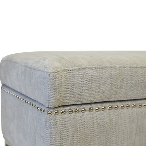 Lexington Home Albany Upholstered Storage Ottoman