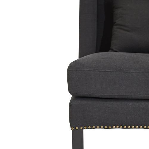 Lexington Home Black Lourdes Upholstered Armchair