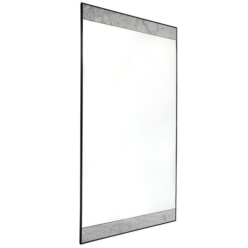 Lexington Home White & Black Paola Floor Mirror
