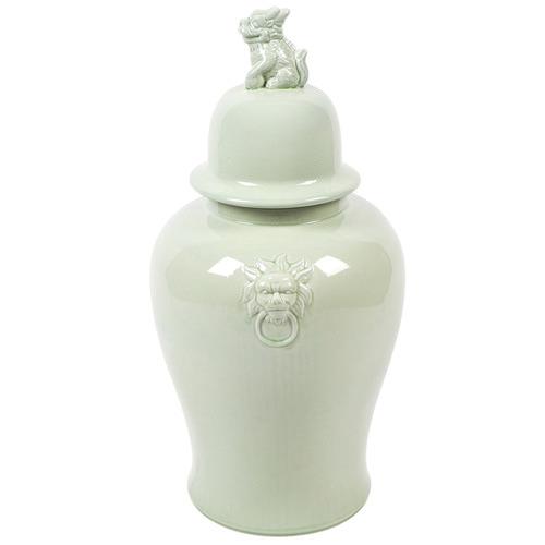 Lexington Home Green Ceramic Temple Jar