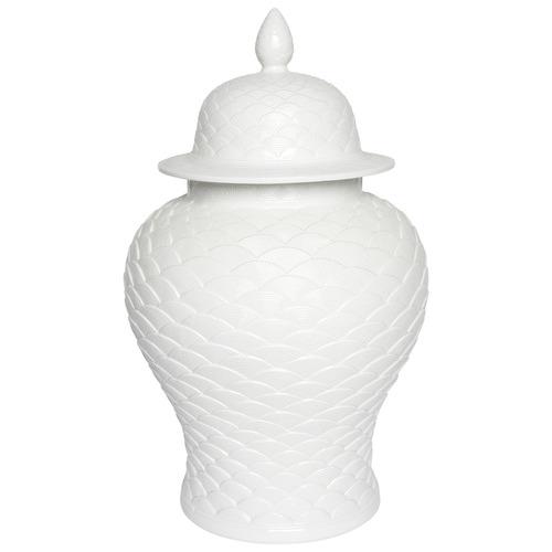 Lexington Home White Leopolda Porcelain Temple Jar