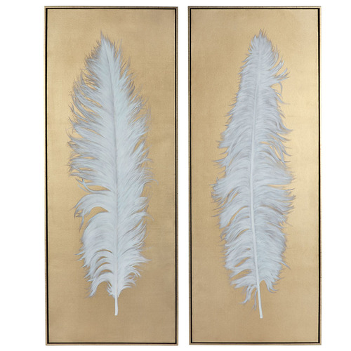 Lexington Home 2 Piece Flock Together Handcrafted Oil Painting Framed Canvas Wall Art Set