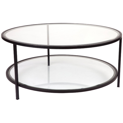 Charlotte Round Glass Top Coffee Table Temple Webster