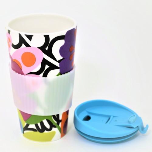 French Bull Oasis Porcelain Traveller Mug