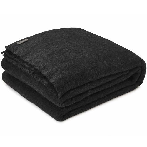 St Albans Coal Alpaca Throw Blanket