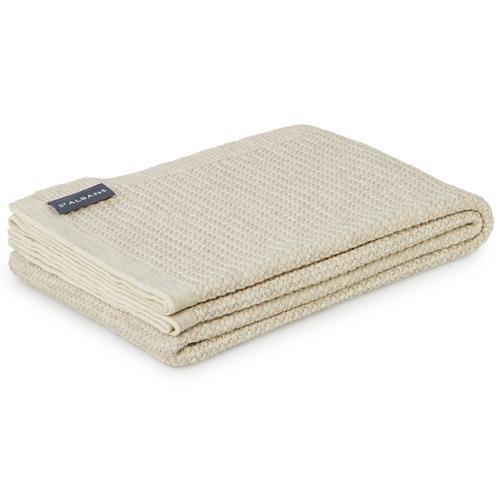 St Albans Sand Knitted Merino Wool Throw