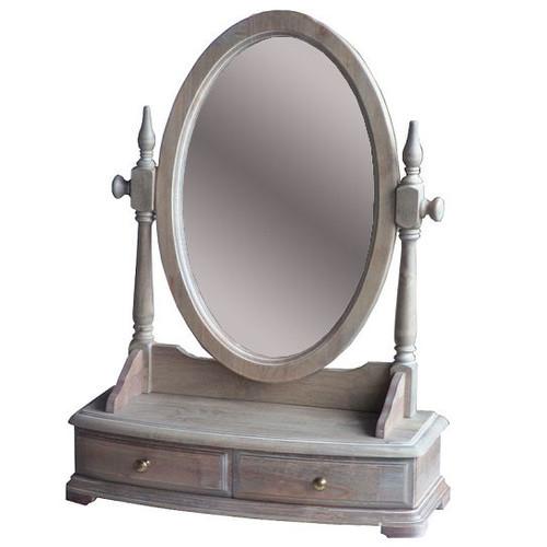 Emporium Oggetti Dressing Unit with Mirror in Wash White