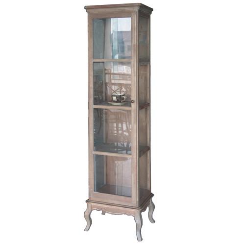 Emporium Oggetti White Wash Display Cabinet