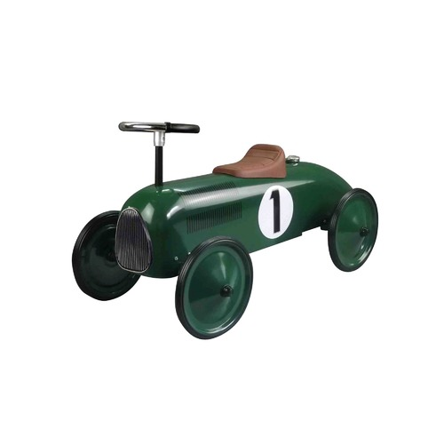 Johnco Productions Green Metal Racing Speedster Ride-On Car
