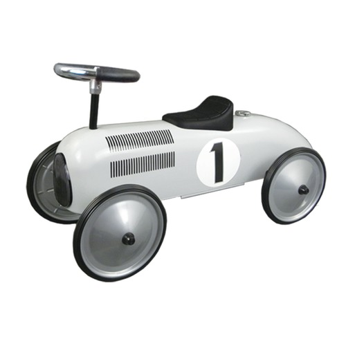 Johnco Productions White Metal Speedster Ride-On Car