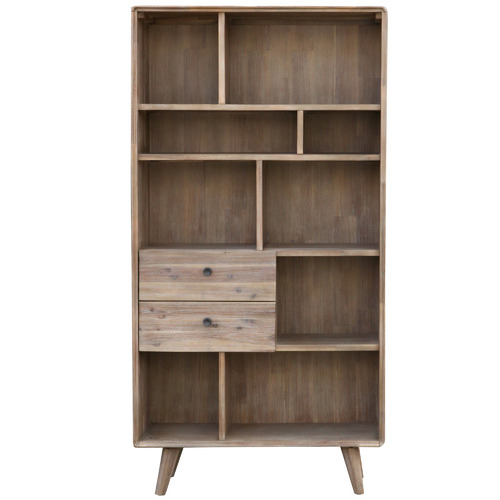 By Designs Tall Light Timber Marco Acacia Display Unit