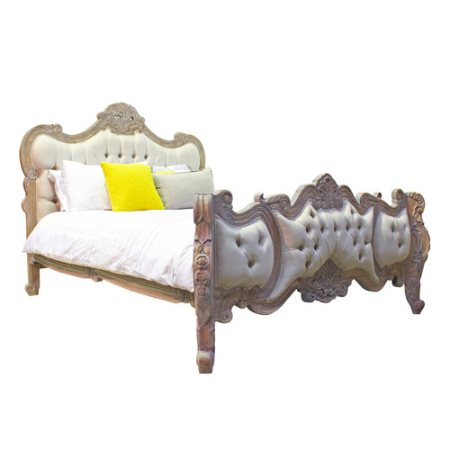 Carrington Furniture French Provincial Rococo Upholstered Bed