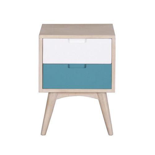 Carrington Furniture Kiruna 2 Drawer Mango Wood Nightstand