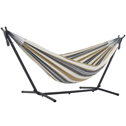 Combo Cotton Double Hammock with Stand