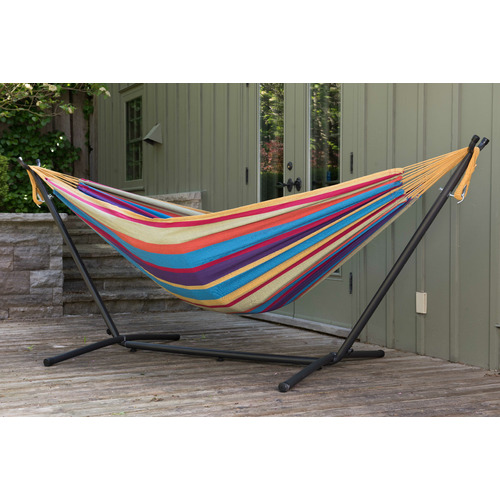 Vivere Hammocks Combo Double Cotton Hammock with Stand